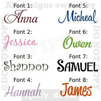 Personalized Custom Single Name Vinyl Wall Decal Sticker Decor Nursery Bedroom