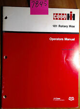 Case International 181 Rotary Hoe Owner's Operator's Manual 1096598R5 1/87