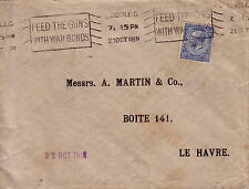 GRANDE BRETAGNE - PERFORATION LSG - LETTRE DE LONDRES 21-10-1918.