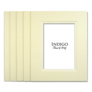 SET OF 10 - 5x7 Ivory Double Mats to fit 3.5x5 sized image - $12 Shipping!