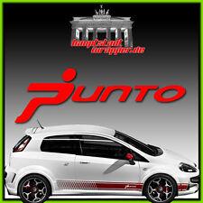 Fiat Abarth Grande Punto Skorpion 500 Seitenstreifen Aufkleber Seitenaufkleber