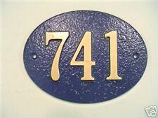 Oval Custom Cast Aluminum House number Plaque