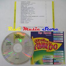 CD RED RONNIE favolosi anni 60 1963 1 CLAUDIO VILLA ADRIANO CELENTANO*(C16)NO*lp
