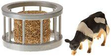 Kids globe bovins d'élevage Chargeur Set-Vache avec nourriture Bale - 1:32 échelle (bt55)