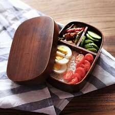 1x Japanese Bento Boxes Wood Lunch Box Wooden Students Sushi Lunch Container New