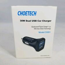 Quick Charge 3.0 Usb Type C Car Charger Choetech 30W Dual Usb C0051