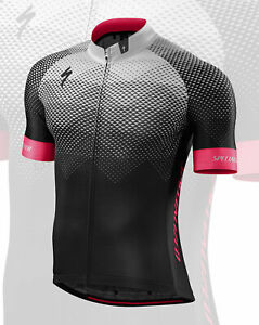 Specialized Men's SL Pro Short Sleeve Jersey RF Matrix / Team Black Stone - M