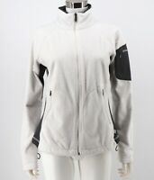 Columbia Pearl Plush Fleece Jacket Size Medium White Full Zip Long Sleeve Womens