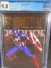 Secret War #3 CGC 9.8 2004 Captain America Cover Gold Foil Logo A274