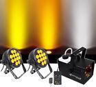 (2) Chauvet DJ SlimPar Pro W USB Par Can Wash Lights+Fog Machine w Lights/Strobe