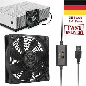 USB Ventilator, PC Lüfter mit 3 Geschwindigkeiten, USB Leise Gehäuselüfter
