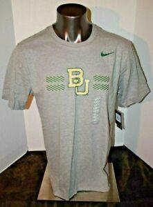 NIKE Dri-Fit Baylor University Bears BU Football T Shirt Men's grey Heather NWT