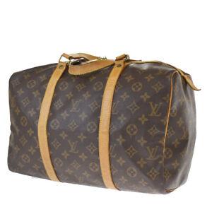 Auth LOUIS VUITTON Sac Souple 35 Hand Bag Monogram Leather Brown M41626 34JC535