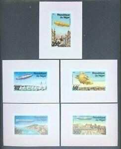 Niger C273-7 Sheetlets Zeppelin Set MNH OG 1976