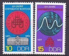Germany DDR 1150-51 MNH OG 1969 Rostock University Seal & Building Set