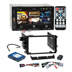 Power Acoustik USB MP3 Bluetooth Stereo Dash Kit Amp Harness for 2000+ GM Chevy