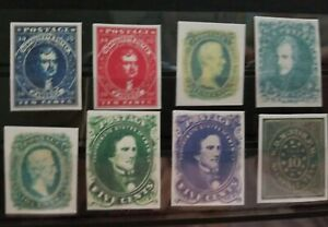 8 Confederate States CSA Replica Stamps 1861-65 Reproduction Place Holders Lot