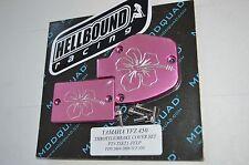 Yamaha YFZ450 2004-2006 PINK Flower design throttle and brake billet covers