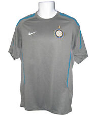 NIKE NEUF INTER MILAN ENTRAÎNEMENT FOOTBALL T-SHIRT AVANT MATCH gris M