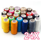 24 Lot Hand Machine Polyester Spools All Purpose Sewing And Quilting Threads