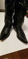 Black Leather Cowboy Boots Western Ranch Seychelles Pointed Toe Womens Size 6