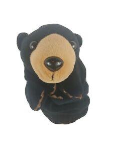 BLACK BEAR Glove Hand Puppet Plush Caltoy Teachers/Preschool Stuffed Toy