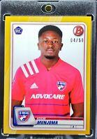 2020 Bowman MLS Eddie Munjoma RC Gold Parallel FC Dallas Great Prospect!