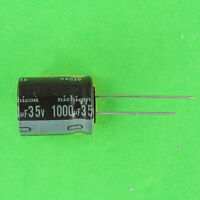 Nichicon 1000uf 35V Electrolytic Cap 105C Low-Z Hi Reliability Radial Lead ufd