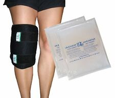 Ice Cold / Hot Thermal Therapy Gel Pack Wrap with 2 gel packs- Elbow, Knee, Leg