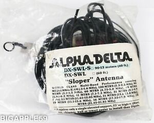 Alpha Delta DX-SWL-S Sloper Shortwave Antenna 90-13 Meters w/ 40 Feet Length