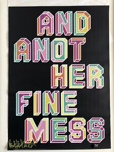 Ben Eine And Another Fine Mess Signed & Numbered Limited Edition Print of 75