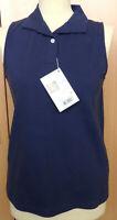 Isabell Werth Poloshirt Antwerpen, blau, ohne Arm, Gr. M (122)
