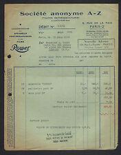 """PARIS (II°) APPAREILS pour la PHOTOGRAPHIE & FILMS """"ROWER / Société A-Z"""" en 1936"""