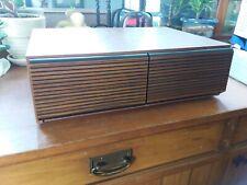 Vintage Wood Grain 18 VCR VHS Tape Holder Storage Box Slide Plastic Drawers