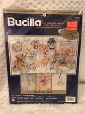 NEW Bucilla Crewel Embroidery Stitchery Kit Teddy Bear Reunion w/ Charms 42431