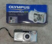 OLYMPUS SUPERZOOM 80G 35MM FILM CAMERA  BUILT IN OLYMPUS 38-80MM ZOOM LENS