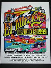 El Mirage 1999 Dry Lake Bed Poster SCTA Roadster Pickup Bonneville Salt Flats