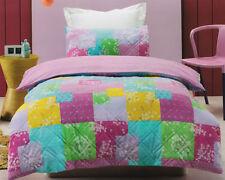 Cotton Blend Floral Three-Piece Quilt Covers
