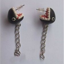 Biting You Ears ! Super Mario Inspired Chain Chomp Earrings Piranha Earrings
