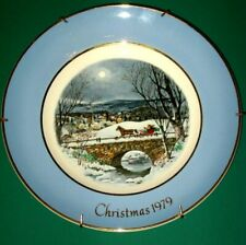 "Vtg Avon Christmas Collectible Plate 7Th Edition 1979 ""Dashing Through The Snow"""