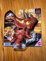 2021 Jurassic World Snap Squad Matte Red Triceratops Camp Cretaceous Collector