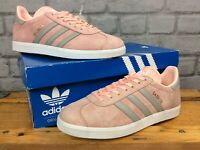 ADIDAS LADIES UK 5 EU 38 HAZE CORAL SUEDE GAZELLE TRAINERS RRP £75 LG