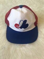 Vintage Montreal Expos Snapback Mesh Baseball Cap Hat Official MLB