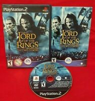Lord of Rings Two Towers  PS2 Playstation 2 Game 1 Owner COMPLETE Near Mint Disc
