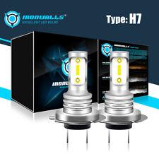 CNLM LED Headlight Bulbs Conversion Kit,H7 Fog Light Bulb Mini All-in-One 4800LM 6000K,2 Pack