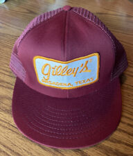 Vintage Gilley's Pasadena Texas Mesh Patched Trucker Hat Snapback Cap Usa