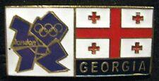 2012 LONDON Olympic GEORGIA NOC Internal team - delegation purple pin