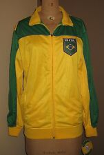 BRAZIL / BRASIL Men's Yellow & Green Soccer Jacket J1S03 by Rhinox Size M NWT!!