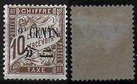CHINE - Col.Française - NEUF - TAXE - 24*- Maury/185.00.eu.TTB/TB/MLH..RRR.