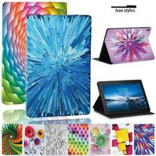 For Lenovo Tab E10/Tab M10/M10 Plus Printing PU Leather Stand Tablet Cover Case